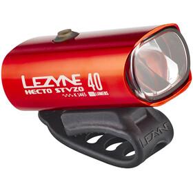 Lezyne Hecto Drive 40 Frontlicht StVZO Y11 rot-glänzend/weiß